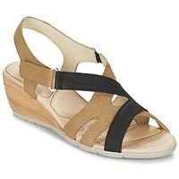 Pantofi Femei Sandale și Sandale cu talpă  joasă Rondinaud COLAGNE Bej / Negru