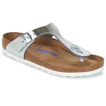 Pantofi Femei  Flip-Flops Birkenstock GIZEH SFB Argintiu