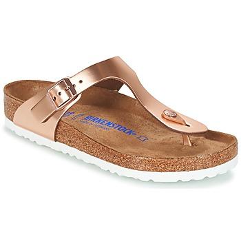 Pantofi Femei  Flip-Flops Birkenstock GIZEH SFB Bronz