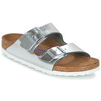 Pantofi Femei Papuci de vară Birkenstock ARIZONA SFB Argintiu