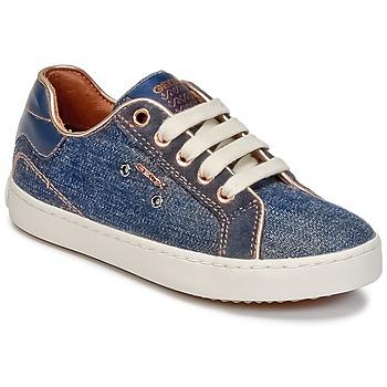 Pantofi Fete Pantofi sport stil gheata Geox J KIWI G. B Denim