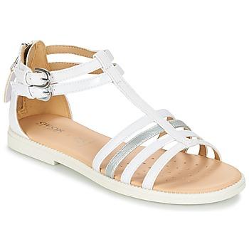 Pantofi Fete Sandale și Sandale cu talpă  joasă Geox J S.KARLY G. D Alb