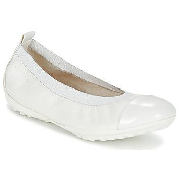 Pantofi Fete Balerin și Balerini cu curea Geox J PIUMA BALL B Alb
