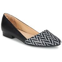 Pantofi Femei Balerin și Balerini cu curea Hush puppies JOVANNA Negru / Alb