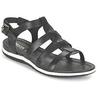 Pantofi Femei Sandale și Sandale cu talpă  joasă Geox D SAND.VEGA A Negru