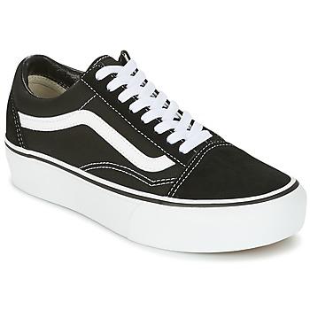 Încăltăminte Femei Pantofi sport Casual Vans UA OLD SKOOL PLATFOR Negru / Alb