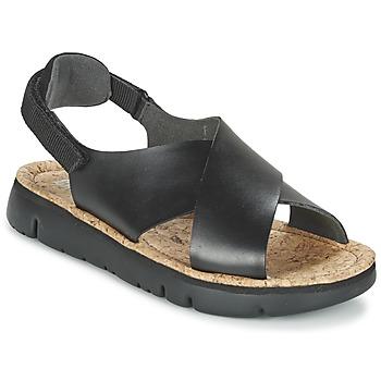 Încăltăminte Femei Sandale și Sandale cu talpă  joasă Camper ORUGA Negru