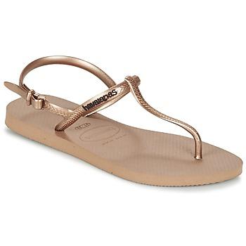 Pantofi Femei Sandale și Sandale cu talpă  joasă Havaianas FREEDOM Roz / Auriu