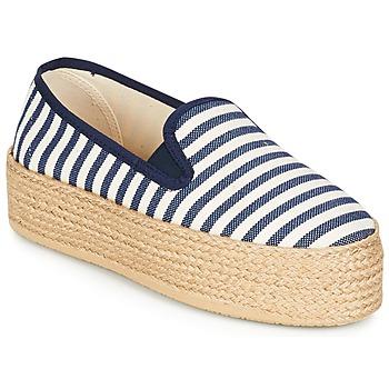 Pantofi Femei Espadrile Betty London GROMY Bleumarin / Alb