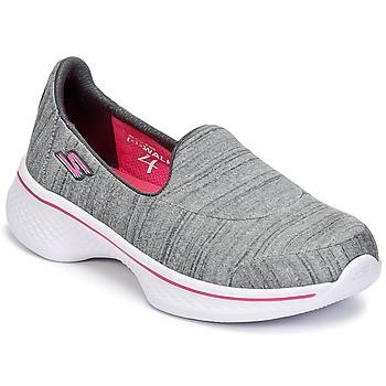 Încăltăminte Fete Pantofi Slip on Skechers GO WALK 4 Gri