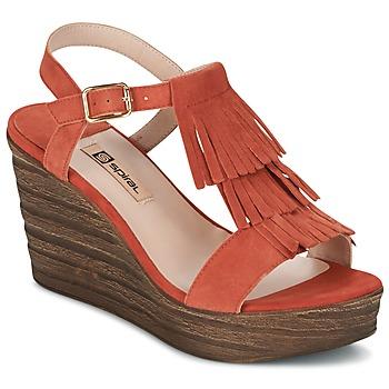 Pantofi Femei Sandale și Sandale cu talpă  joasă Spiral CARLA Portocaliu