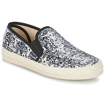 Pantofi Femei Espadrile Spiral VIRGINIA Negru / Alb