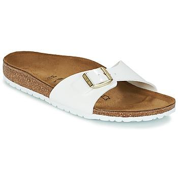 Pantofi Femei Papuci de vară Birkenstock MADRID Alb / Auriu