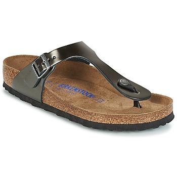 Pantofi Femei  Flip-Flops Birkenstock GIZEH SFB Gri /  metalizat