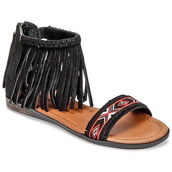 Încăltăminte Femei Sandale și Sandale cu talpă  joasă Minnetonka MOROCCO Negru