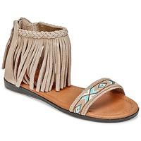 Încăltăminte Femei Sandale și Sandale cu talpă  joasă Minnetonka MOROCCO Taupe