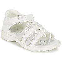 Încăltăminte Fete Sandale și Sandale cu talpă  joasă Chicco CAROTA Alb / Argintiu