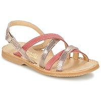 Pantofi Fete Sandale și Sandale cu talpă  joasă Citrouille et Compagnie GENTOU Roz / Argintiu