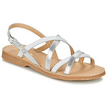 Pantofi Fete Sandale  Citrouille et Compagnie GENTOU Alb / Argintiu