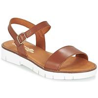 Pantofi Fete Sandale și Sandale cu talpă  joasă Citrouille et Compagnie GAPOTI Camel