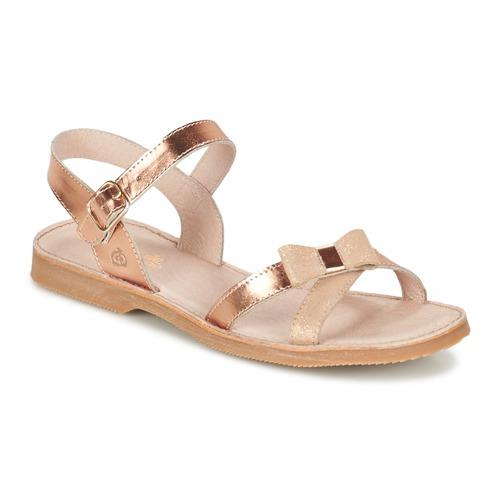 Pantofi Fete Sandale  Citrouille et Compagnie JISCOTTE Bronz
