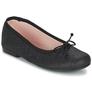Pantofi Fete Balerin și Balerini cu curea Citrouille et Compagnie GLIGLO Negru / Paiete