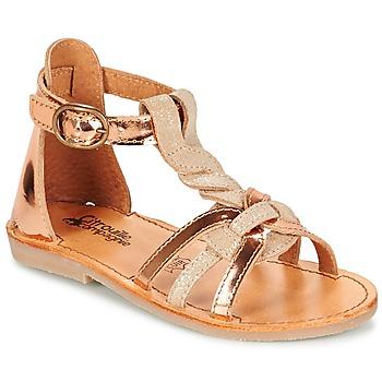 Pantofi Fete Sandale  Citrouille et Compagnie GITANOLO Bej / Alamă