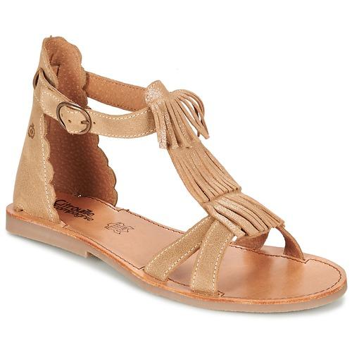 Pantofi Fete Sandale  Citrouille et Compagnie GAMELA Camel