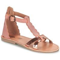 Pantofi Fete Sandale  Citrouille et Compagnie GUBUDU Roz / Auriu