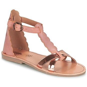 Pantofi Fete Sandale și Sandale cu talpă  joasă Citrouille et Compagnie GUBUDU Roz / Auriu