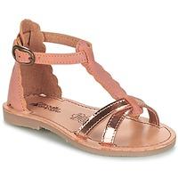 Încăltăminte Fete Sandale și Sandale cu talpă  joasă Citrouille et Compagnie GUBUDU Roz / Auriu