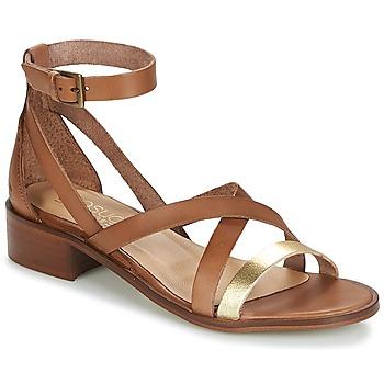 Pantofi Femei Sandale și Sandale cu talpă  joasă Casual Attitude COUTIL Camel / Auriu