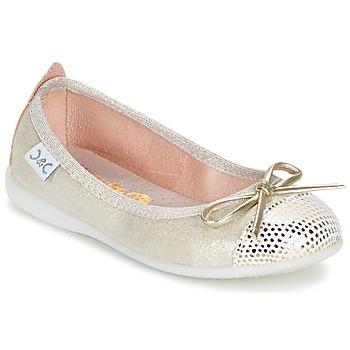 Pantofi Fete Balerin și Balerini cu curea Citrouille et Compagnie GRAGON Bej / Paiete
