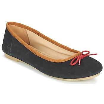 Pantofi Femei Balerin și Balerini cu curea Kickers BAIE Negru / Roșu