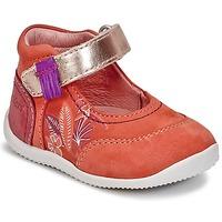 Pantofi Fete Balerin și Balerini cu curea Kickers BIMAMBO Portocaliu / Fuchsia / Roz