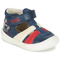 Pantofi Băieți Sandale și Sandale cu talpă  joasă Kickers ZOHAN Bleumarin / Roșu