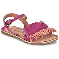 Pantofi Fete Sandale și Sandale cu talpă  joasă Kickers DIXFROUFROU KID Fuchsia / Corai