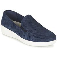 Pantofi Femei Pantofi Slip on FitFlop SUPERSKATE (PERF) Bleumarin