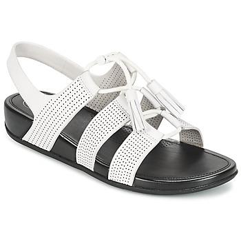 Pantofi Femei Sandale și Sandale cu talpă  joasă FitFlop GLADDIE LACEUP SANDAL Alb