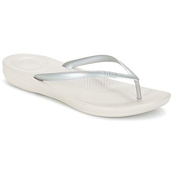 Pantofi Femei  Flip-Flops FitFlop IQUSHION ERGONOMIC FLIP-FLOPS Argintiu