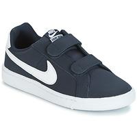 Încăltăminte Băieți Pantofi sport Casual Nike COURT ROYALE PRESCHOOL Albastru / Alb