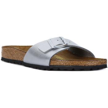 Pantofi Femei Papuci de vară Birkenstock MADRID SILVER CALZ S Argento