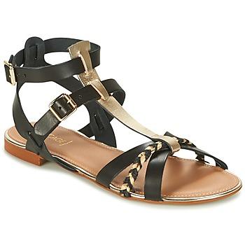 Încăltăminte Femei Sandale și Sandale cu talpă  joasă Bocage JARET Negru / Auriu