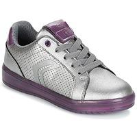 Pantofi Fete Pantofi sport Casual Geox J KOMMODOR G.A Argintiu / PrunĂ