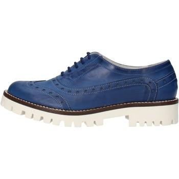 Pantofi Femei Pantofi Oxford  Olga Rubini classiche blu pelle AF117 Blu
