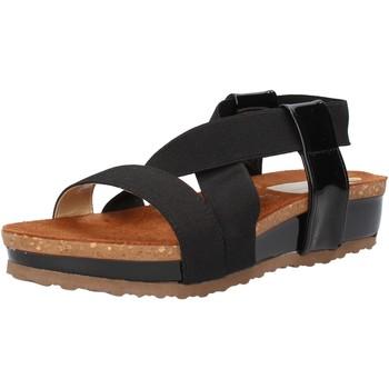Pantofi Femei Sandale  Olga Rubini sandali nero tessuto vernice AF792 Nero