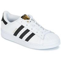 Încăltăminte Copii Pantofi sport Casual adidas Originals SUPERSTAR Alb / Negru