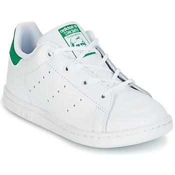Încăltăminte Copii Pantofi sport Casual adidas Originals STAN SMITH I Alb / Verde