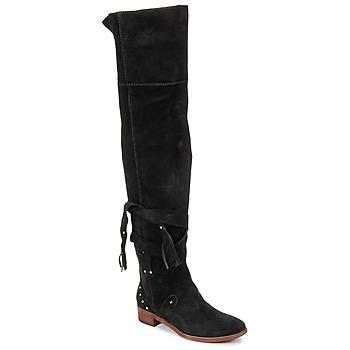 Pantofi Femei Cizme lungi peste genunchi See by Chloé FLIROL Negru