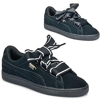 Încăltăminte Femei Pantofi sport Casual Puma Basket Heart Satin Negru